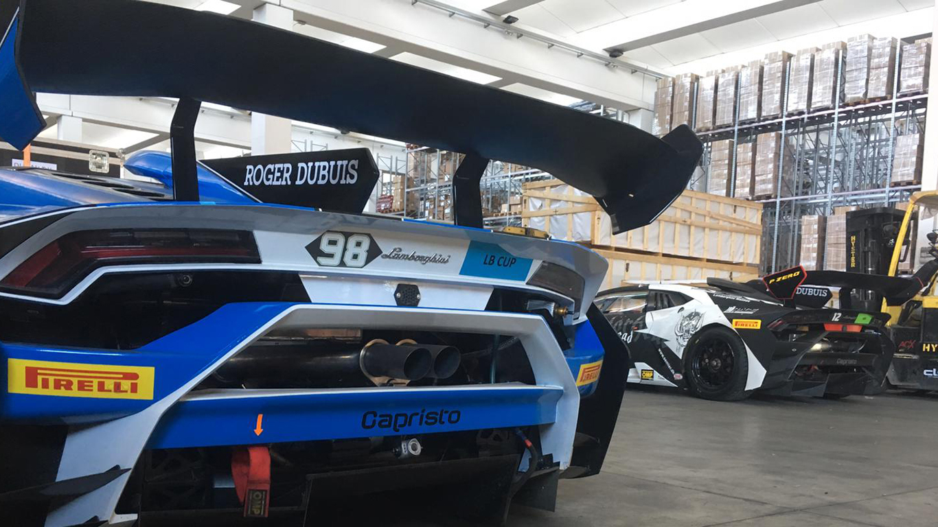 Lamborghini containers returned from the Middle East